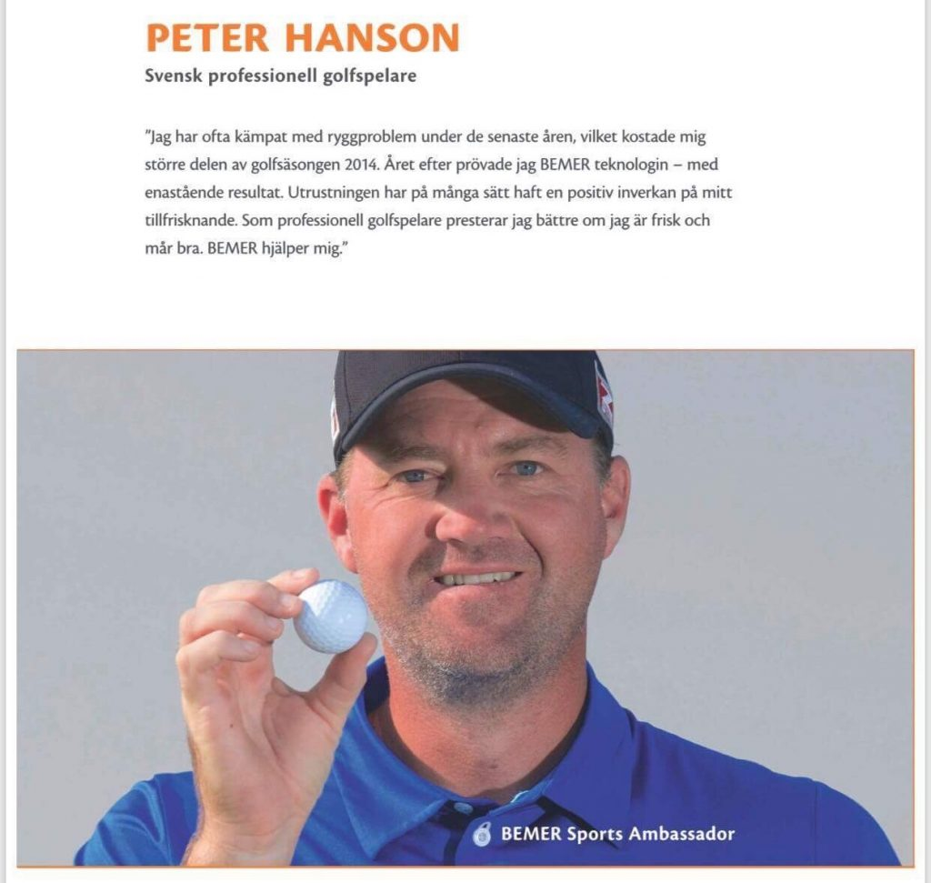 Peter Hansson – svensk professionell golfspelare
