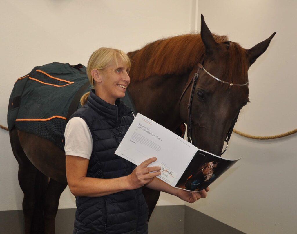Veterinär/Med dr Lotta Wallin berättar om BEMER Horse set på sin hästklinik